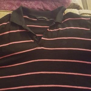 Men's collared striped shirt